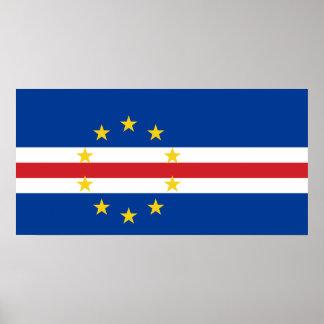 Cape Verde National World Flag Poster