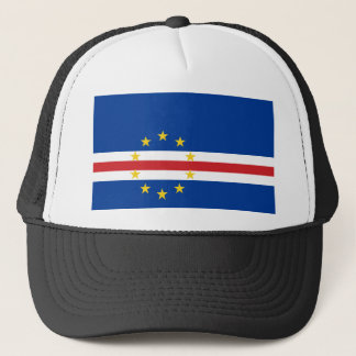 Cape Verde National World Flag Trucker Hat