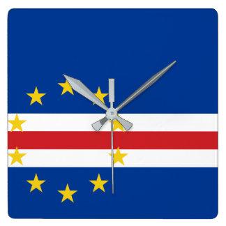 Cape Verde National World Flag Wallclocks