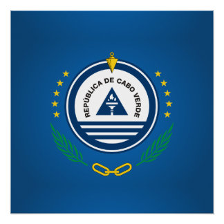 Cape Verdean coat of arms Perfect Poster