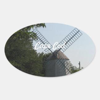 Cape Windmill Oval Stickers
