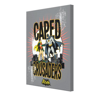 Caped Crusaders Graphic Canvas Print