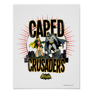 Caped Crusaders Graphic Poster