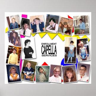 Capella Enrollment Services 80's Party Poster