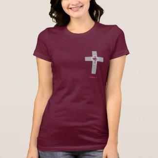 CapellaJewels Cross Cut Pink Sapphire Jersey T Tshirts