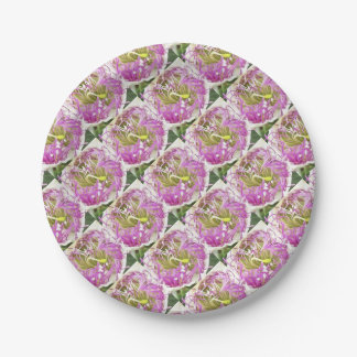 Caper Flower Blossom 7 Inch Paper Plate