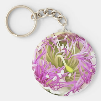 Caper Flower Blossom Keychain
