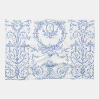 Capetian Toile blueberry Kitchen Towel