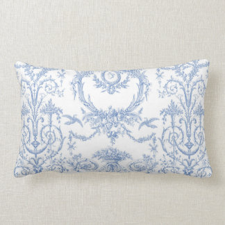Capetian Toile blueberry Lumbar Pillow