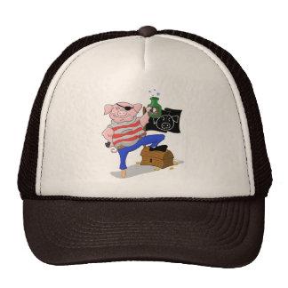 Capitaine Aham Hat de pirate de porc Casquettes
