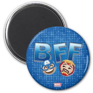 Capitaine Amérique de BFF et homme Emoji de fer Magnet Rond 8 Cm
