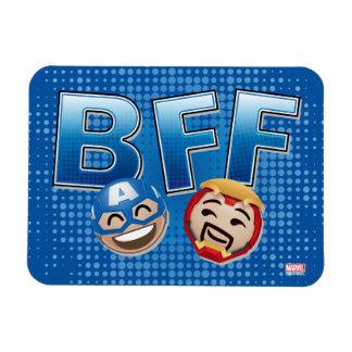 Capitaine Amérique de BFF et homme Emoji de fer Magnets En Rectangle