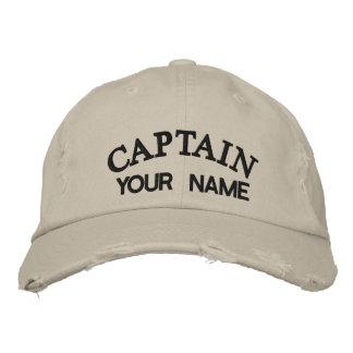 CAPITAINE FAIT SUR COMMANDE - casquette brodé Chapeaux Brodés