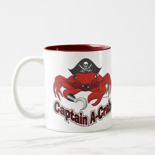 """Capitaine """"Un-Crabe """" Tasse"""