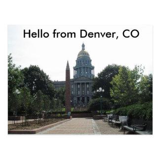 Capital Building Denver Postcard