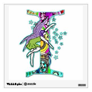 Capital I with Fairy Wall Sticker