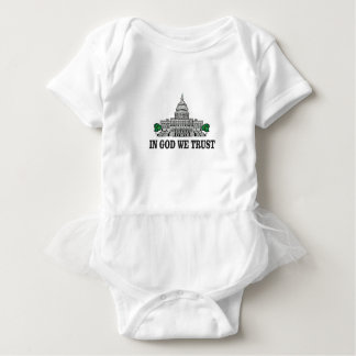 capital in god we trust baby bodysuit