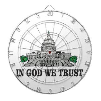 capital in god we trust dartboard