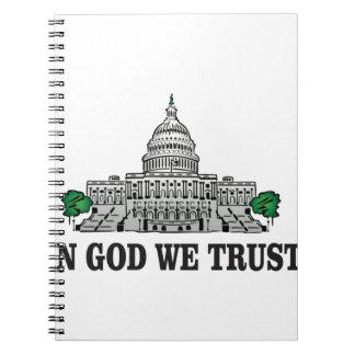 capital in god we trust notebook