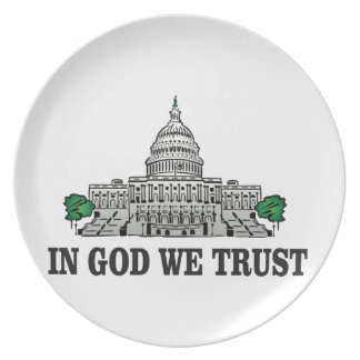 capital in god we trust plate
