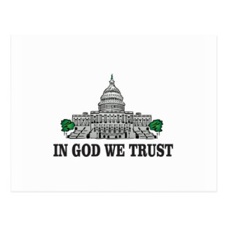capital in god we trust postcard