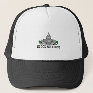 capital in god we trust trucker hat