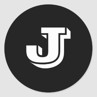 Capital Letter J Small Round Stickers by Janz