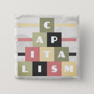 Capitalism 2 Inch Square Button