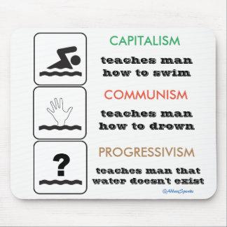 Capitalism Communism Progressivism Mousepad
