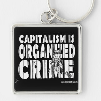 Capitalism is Organized Crime Keychain