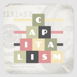 Capitalism Square Sticker