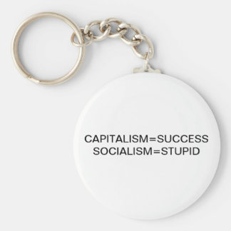 CAPITALISM=SUCCESS SOCIALISM=STUPID KEYCHAIN