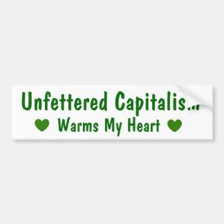 Capitalism Warms My Heart Bumper Sticker