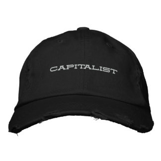 capitalist embroidered hat