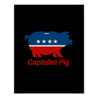 Capitalist Pig png Poster