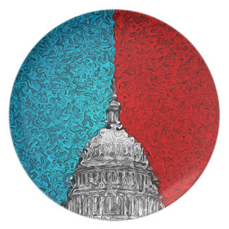 Capitol Building Abstract Dinner Plates