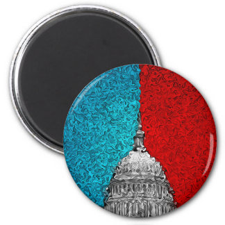 Capitol Building Abstract Magnet