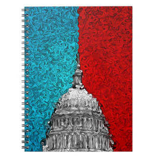 Capitol Building Abstract Spiral Notebook