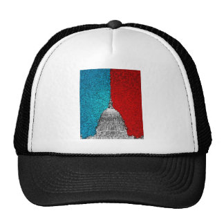 Capitol Building Abstract Trucker Hat