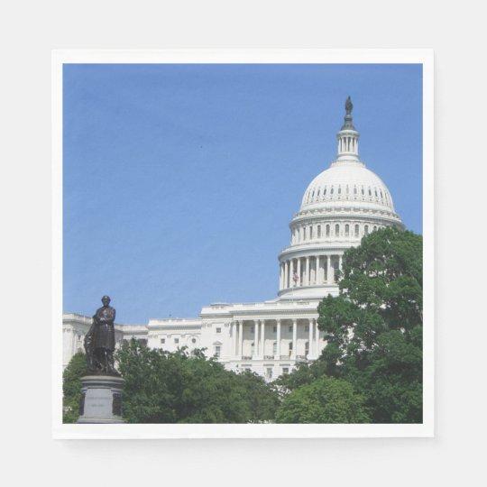 Capitol Building in Washington DC Paper Napkins