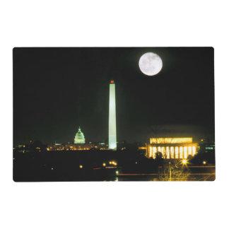 Capitol Building, Lincoln Memorial, Washington Laminated Place Mat