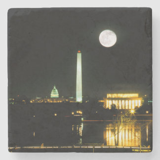 Capitol Building, Lincoln Memorial, Washington Stone Coaster