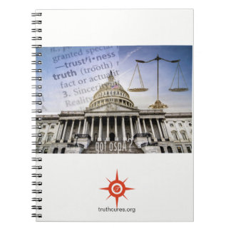 Capitol building/truthcures.org notebook