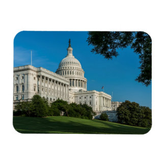 Capitol Building West View Rectangular Photo Magnet