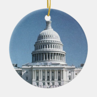 Capitol Dome Crop from jpg Ceramic Ornament