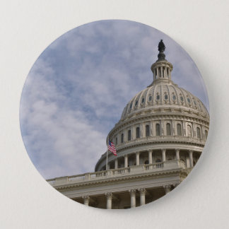Capitol Hill Building in Washington DC 4 Inch Round Button