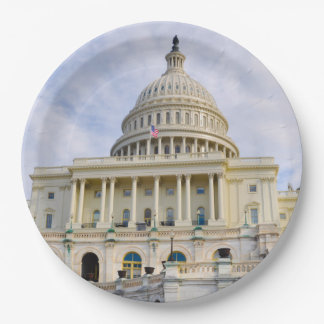 Capitol Hill Building in Washington DC 9 Inch Paper Plate
