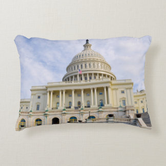 Capitol Hill Building in Washington DC Accent Pillow