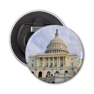 Capitol Hill Building in Washington DC Button Bottle Opener