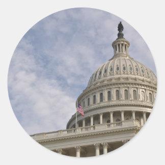 Capitol Hill Building in Washington DC Classic Round Sticker
